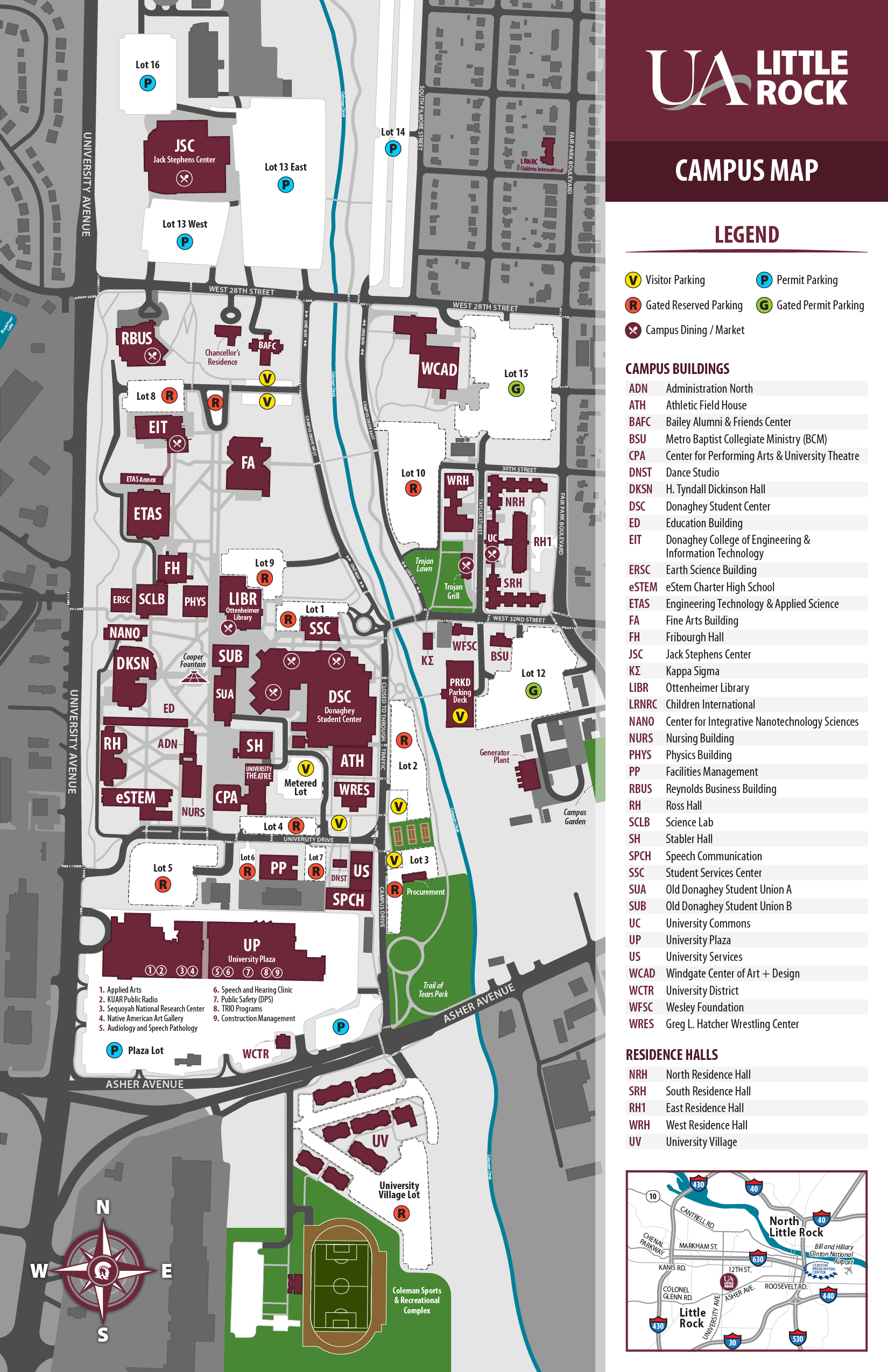 university of arkansas fort smith campus map Uark Campus Map Pdf Map Of The World university of arkansas fort smith campus map