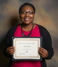 Cindy McDonald accounting scholarship photo