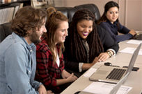 Mass communications students in their Public Relations Campaigns course.