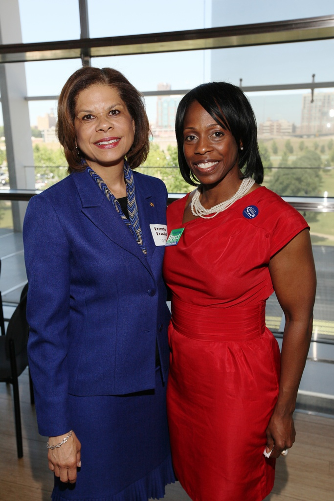 2012 Distinguished Alumna, Brenda Donald '93; UALR Foundation Fund Board President, Tjuana Byrd '96