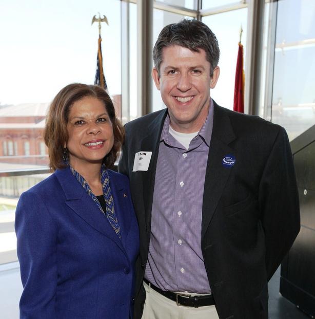 UALR 2012 Distinguished Alumna, Brenda Donald '93; Assistant Little Rock City Manager, Bryan Day '86 '94