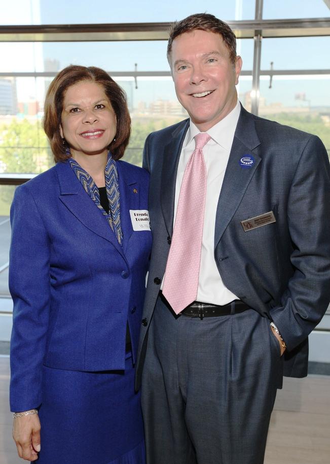 UALR 2012 Distinguished Alumna, Brenda Donald '93; Dr. Jerry Stevenson