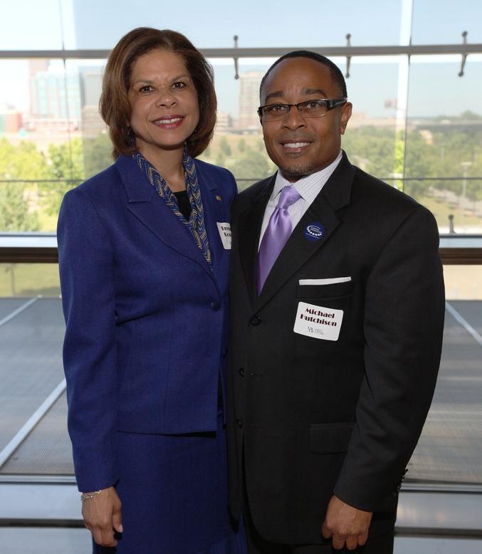 2012 Distinguished Alumna, Brenda Donald '93; Michael Hutchison