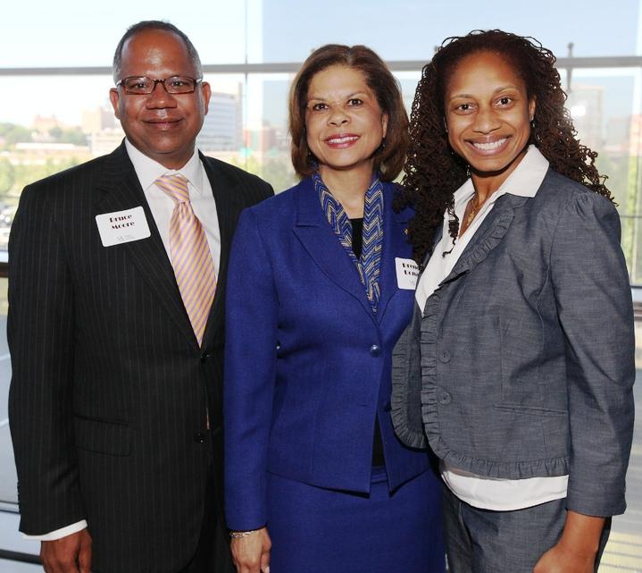 Little Rock City Manager, Bruce Moore; UALR 2012 Distinguished Alumna Brenda Donald '93; Sherece West