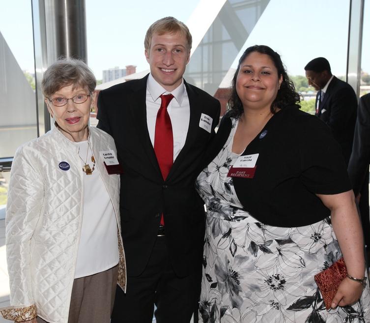 UALR Whitbeck Award Winners and Outstanding Graduating Seniors: Carolyn LeMaster '77 '81; Ryne Ramaker '12; Suzie Garcia '11