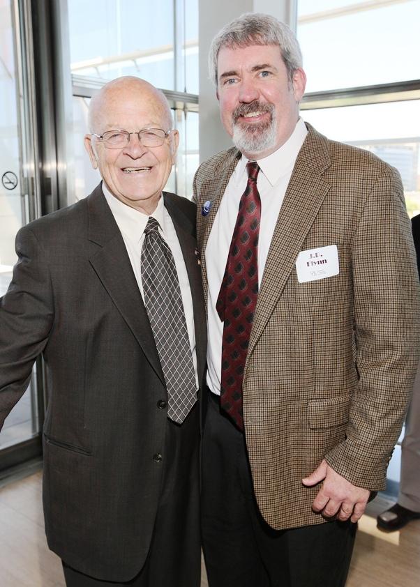 2012 Presidents Award Winner, Harold Steelman '54; JP Flynn '99