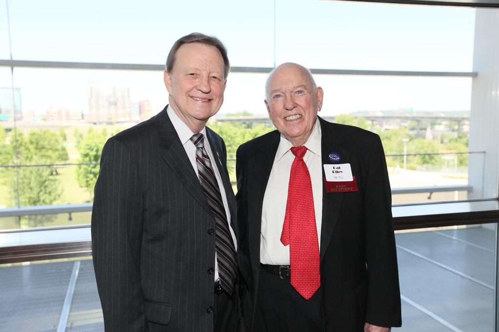 UALR Chancellor, Dr. Joel E. Anderson; Pat Riley '43