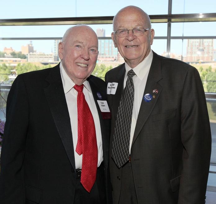 1985 Distinguished Alumnus, Pat Riley '43; 2012 Presidents Award Winner, Harold Steelman '54