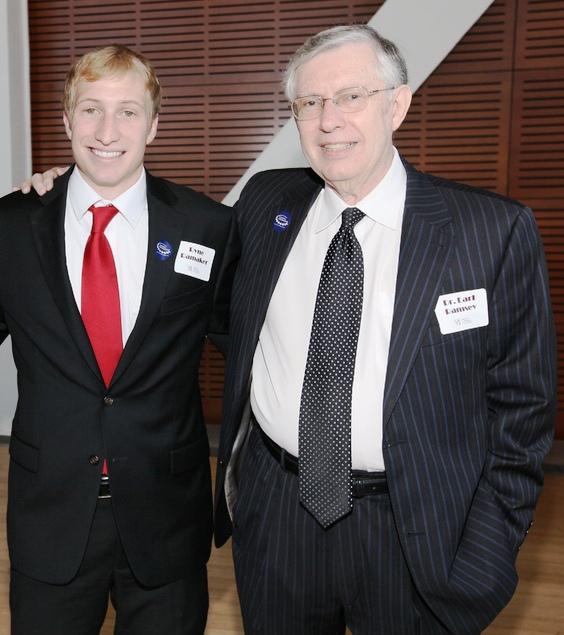 2012 Whitbeck Award Winner and Outstanding Graduating Senior, Ryne Ramaker '12; Dr. Earl Ramsey