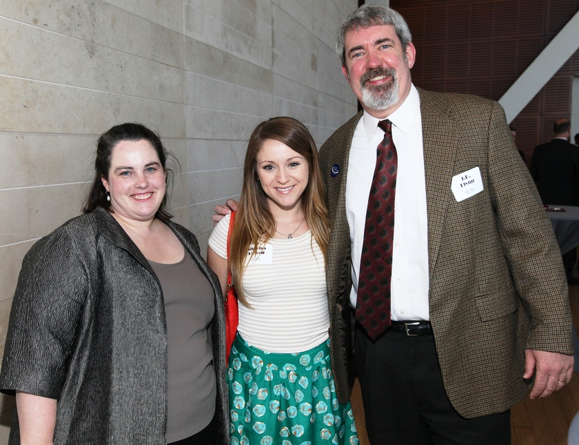 UALR Annual Giving Manager, Sarah Lindsay Harrison: Sheena Howell '11: JP Flynn '99