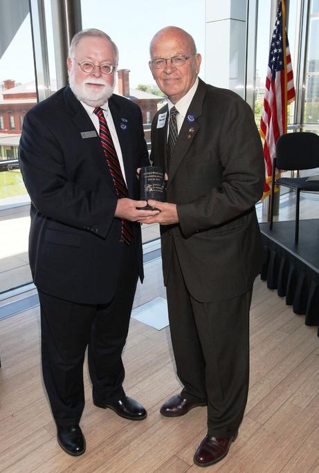 Alumni Board President, Scott Gordon '77; 2012 Presidents Award Winner, Harold Steelman '54