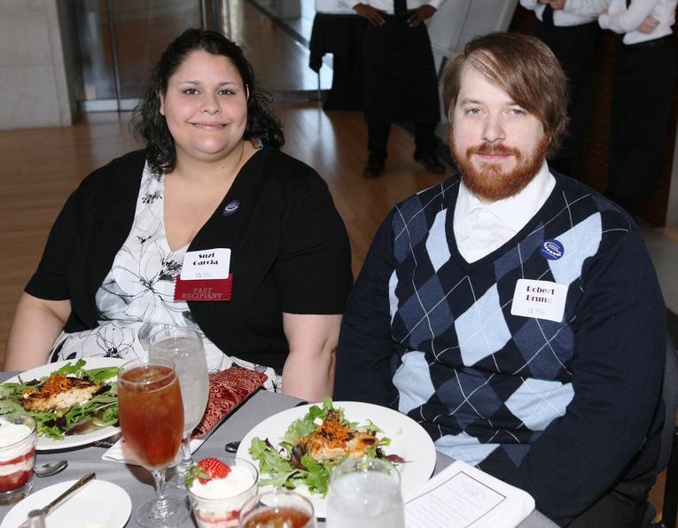 2011 Whitbeck Award Winner and Outstanding Graduate, Suzie Garcia '11; Robert Bruno '11