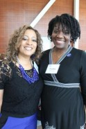 Alumni Board Members Angela Thomas and Tamika Edwards