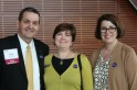Vice Chancellor for Advancement Bob Denman, Linda Martin, Cathy Dicus