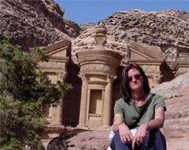 Dr. Krista Lewis at Petra in Jordan