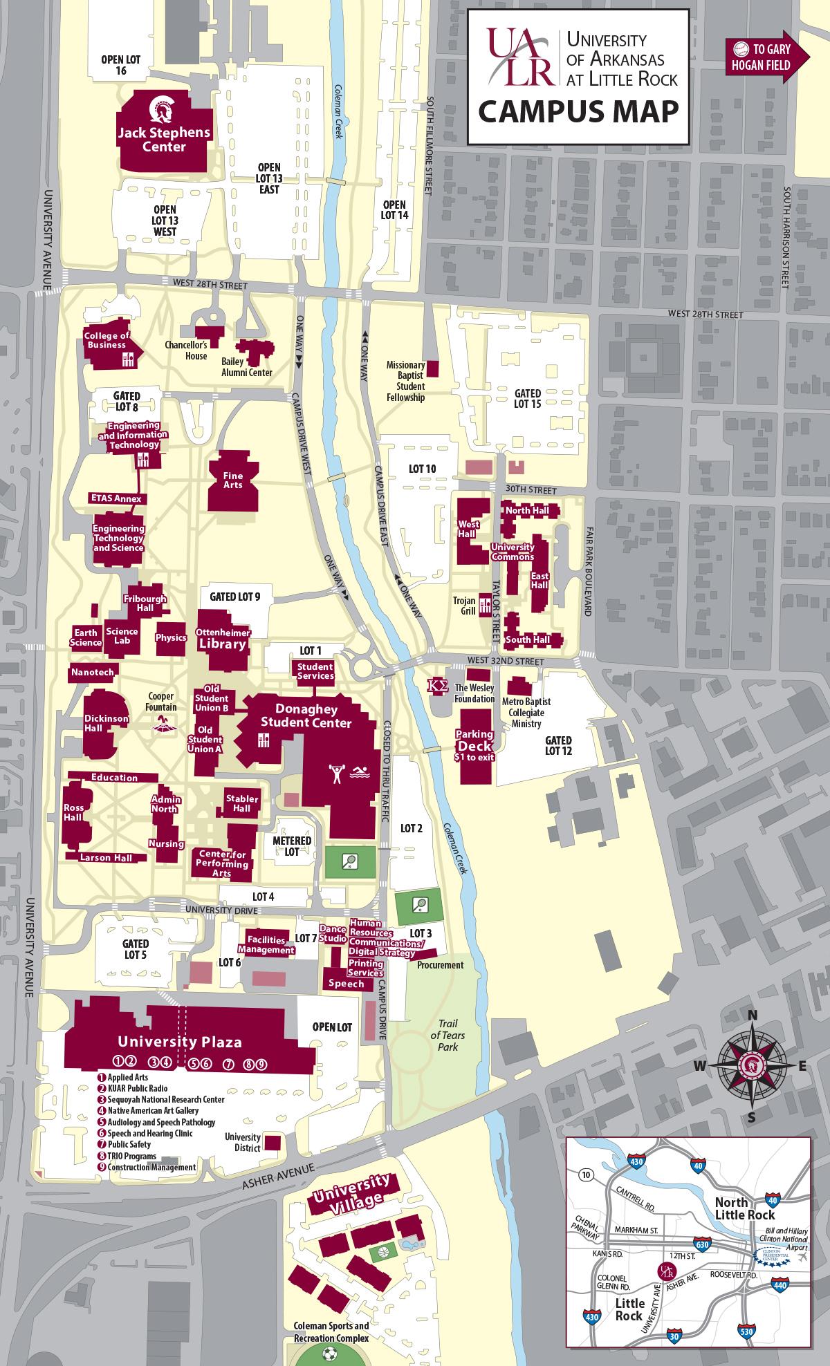 Ualr Campus Map ualr campus map 2015   Advanced Placement Summer Institute