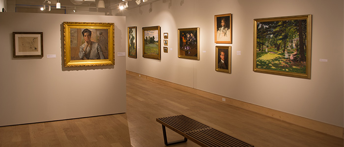 Exhibition of paintings by Kate Freeman Clark. Photo by Emily-Brockway.