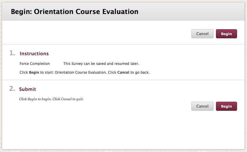course evaluation survey