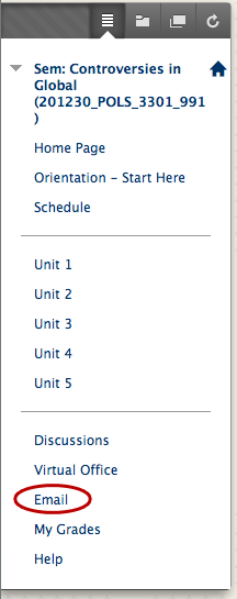 if the instructor is using the blackboard email system then you will receive those messages via your ualr email account