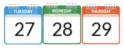 Blackboard Student Orientation dates, Aug 27-29.