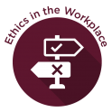 Ethics in the Workplace Badge - Maroon