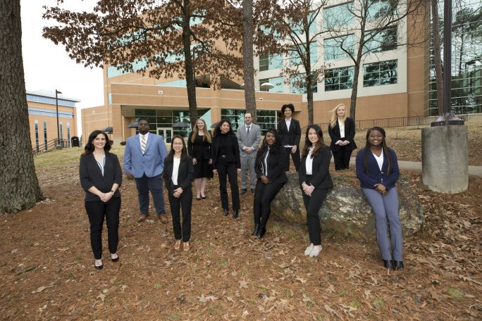 School of Business student ambassadors 2020 to 2021 group photo
