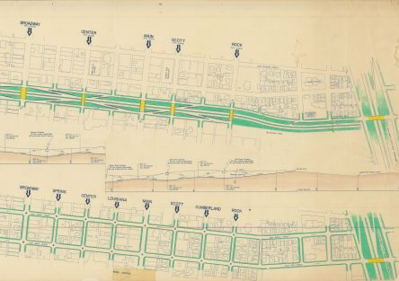 "Digitized drawing of ""1965 8th St Expressway in Little Rock"""