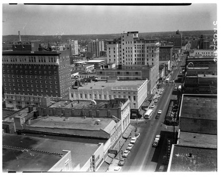 Digitized photograph of downtown Little Rock ca. 1957