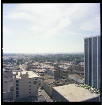 Digitized photograph of downtown Little Rock