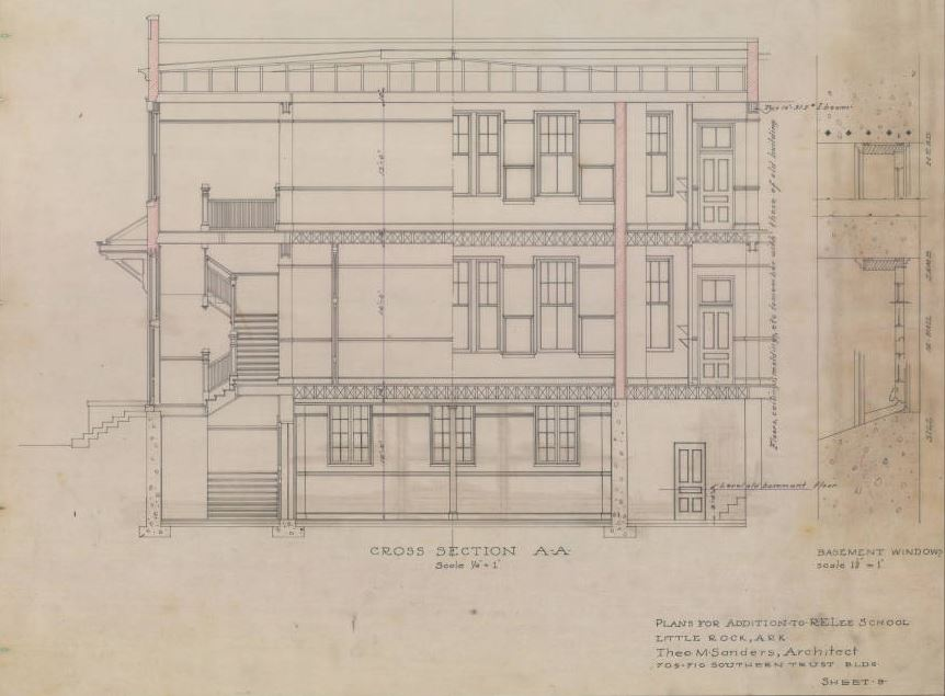Hundreds of historic blueprints now available online center for image from the architectural drawings collection sheet 8 robert e lee school addition malvernweather Gallery
