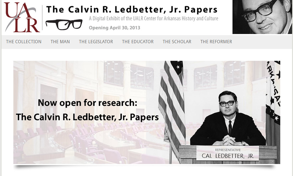 Calvin R. Ledbetter, Jr. Papers