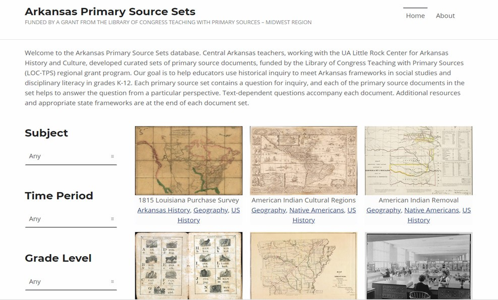 Arkansas Primary Source Sets