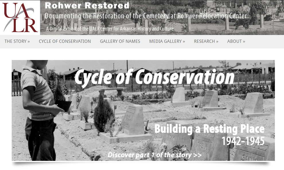 Rohwer Restored: Documenting the Restoration of the Cemetery at Rohwer Relocation Center