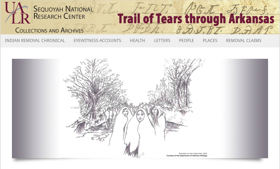 Trail of Tears through Arkansas