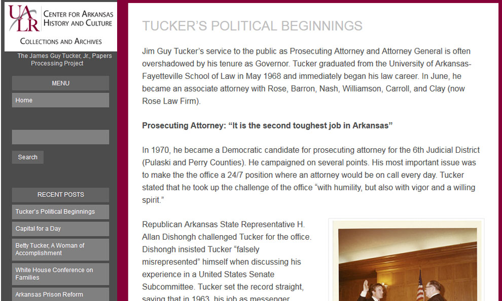 Jim Guy Tucker Jr. Papers Processing Project Blog