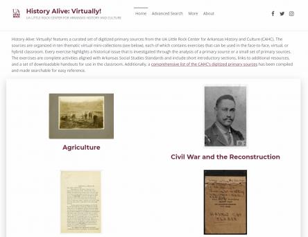History Alive: Virtually! Online Exhibit