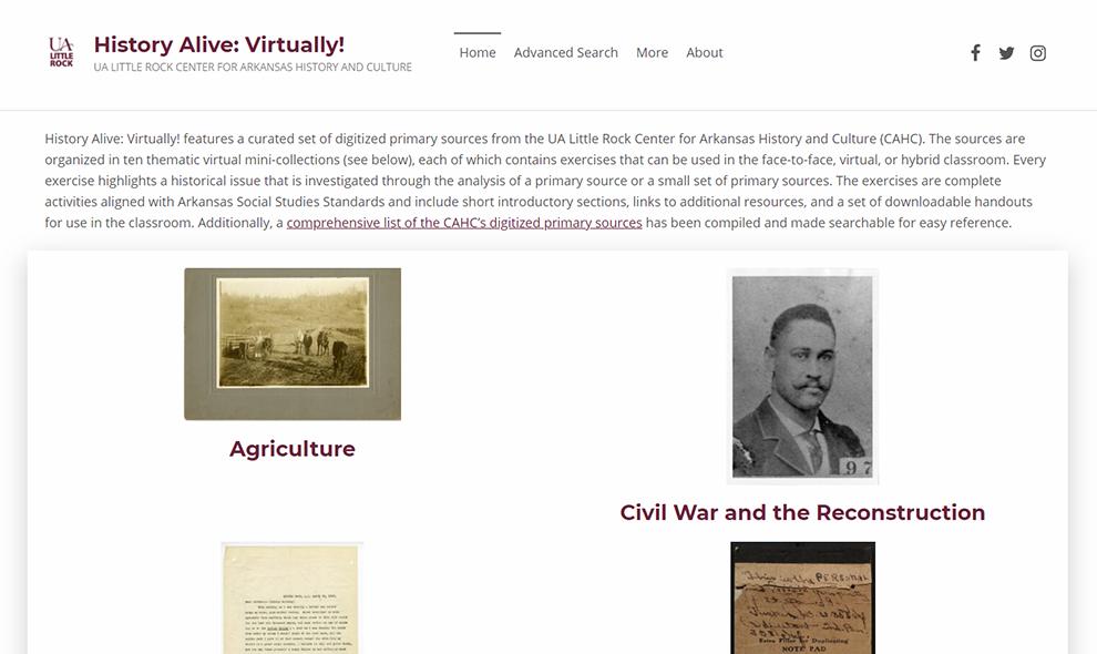History Alive: Virtually!