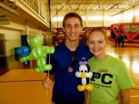 students with balloon animals