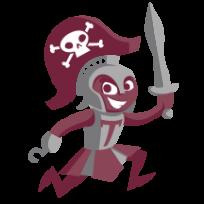 graphic of Trojan Pirate
