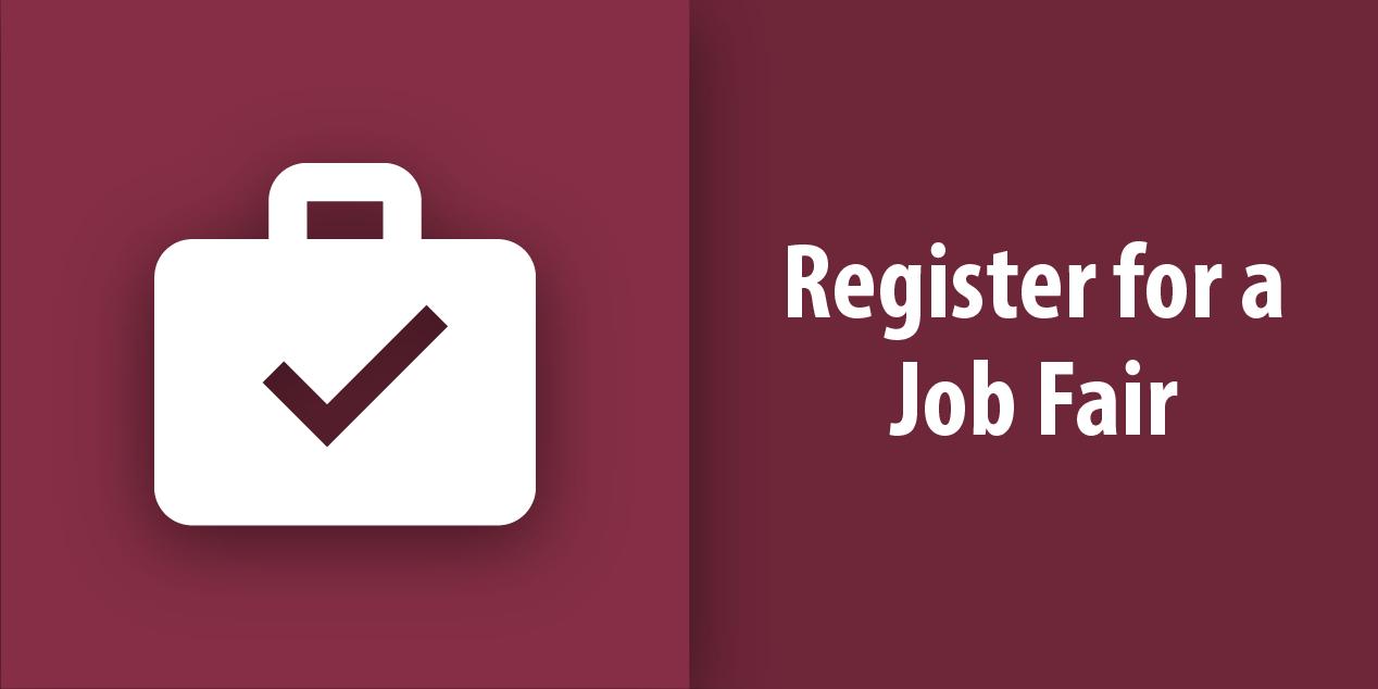 Register for a Job Fair Button
