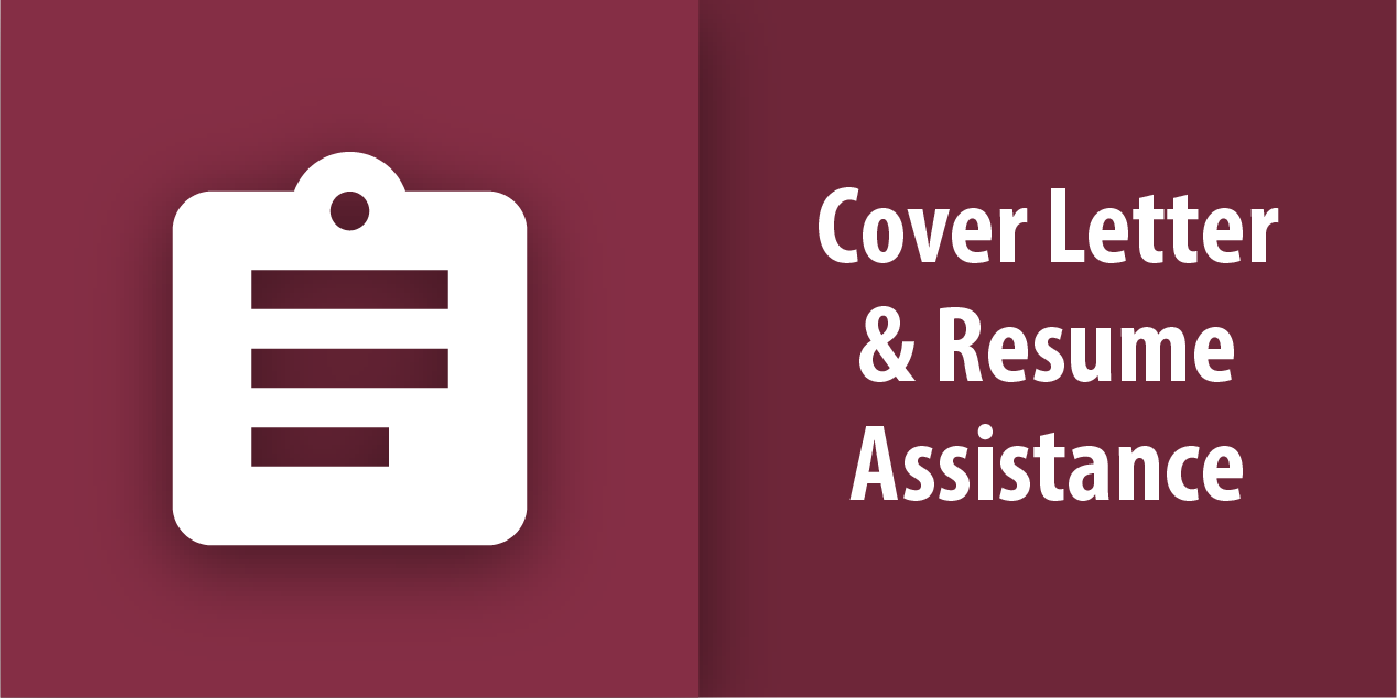 Cover Letter and Resume Assistance Button