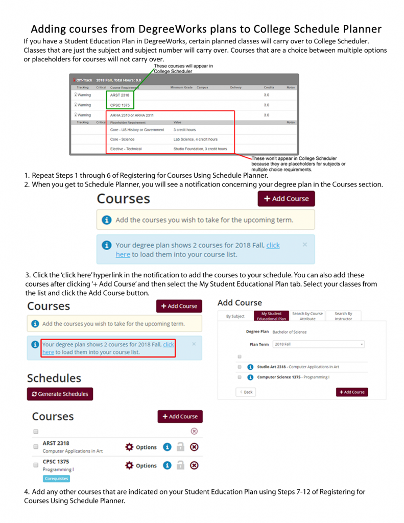 College-Scheduler-with-DegreeWorks