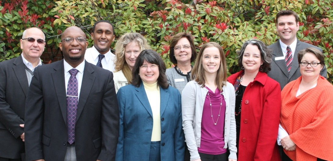 Outdoor shot of ten Diversity Council members