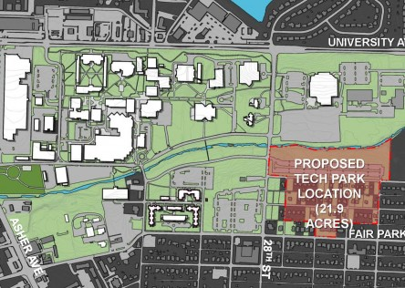 Proposed UALR site for tech park