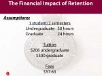 Chart 6 Assumptions for Financial Impact of 1 student attending 2 semesters