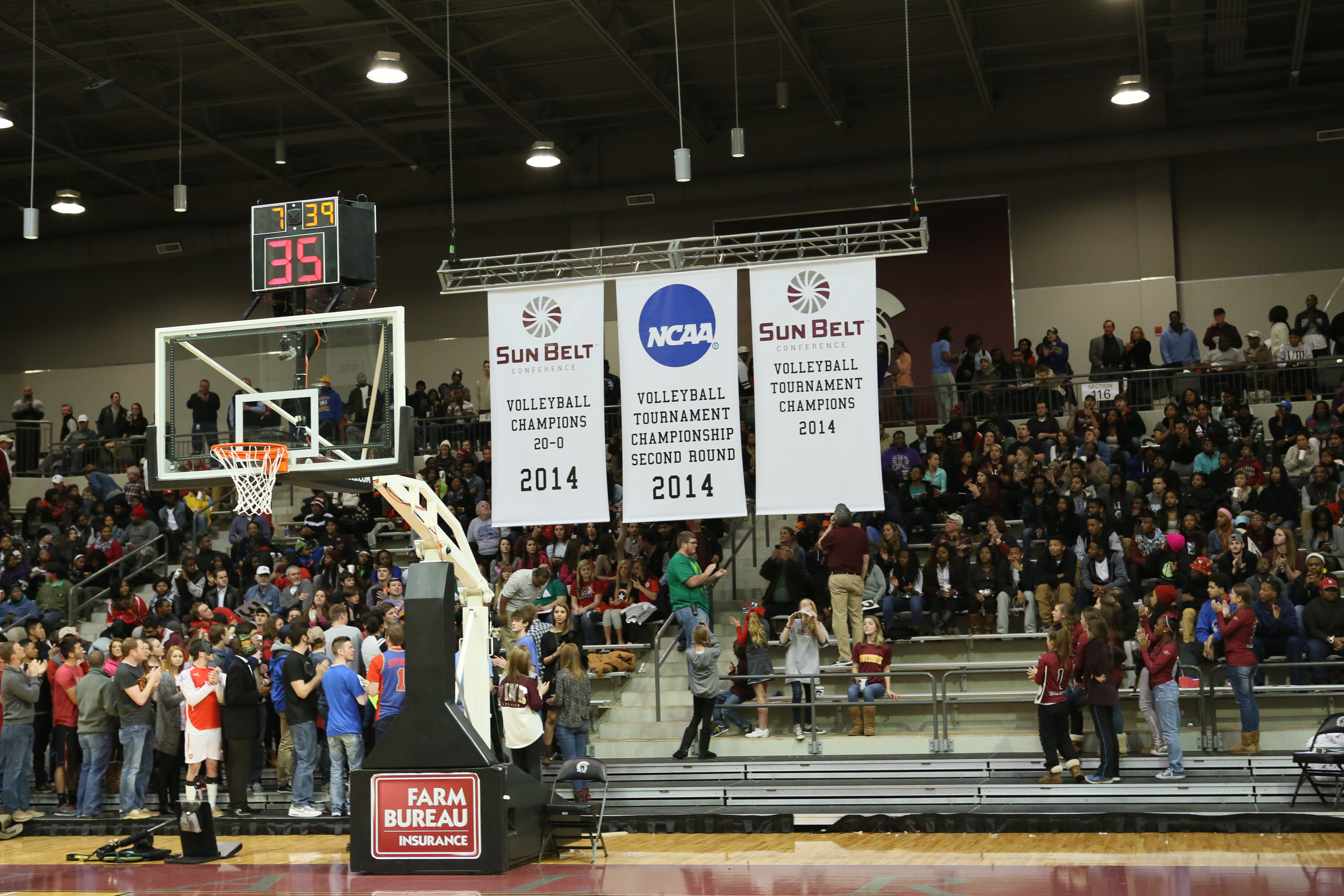 Sun Belt and NCAA Banners for UALR Volleyball Team
