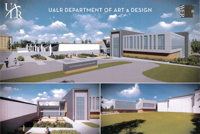 Rendering of new building for the Department of Art and Design