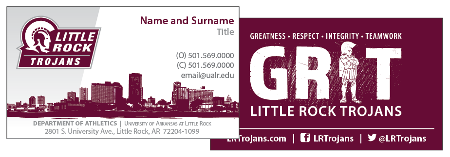 Athletics business card design.