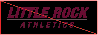 Example of incorrectly applying the two-color wordmark to a black background.