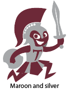The Trojan graphic in maroon and silver.